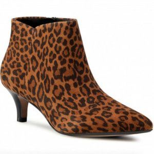 Clarks Linvale Sea Leopard Ankle Boots